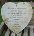 HANDMADE plaque - Dance with my father again - COLOUR and DESIGN OPTIONS - 18cms