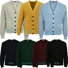 Relco Skin Mod Waffle Knit Cardigan Football Buttons Navy Black Green Burgundy