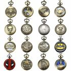 Antique Steampunk Vintage Quartz Pocket Watch Chain Pendant Retro Necklace image