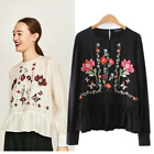 2 COLORS BLOGGER VTG VICTORIAN FLORAL EMBROIDERED JACKET BLOUSE DRESS TUNIC TOP