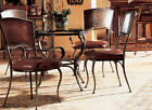 Artistica San Sebastian Leather Dining Chair Set JUST REDUCED $200 + FREE SHIP