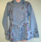 New Fair Trade Gringo Belted Cotton lined Jacket Coat Hippy Boho Sz M/L Blue