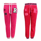CLEARANCE LADIES BASEBALL VARSITY JOGGING WOMENS BOTTOMS TRACKSUIT TROUSERS