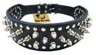 Black New Spiked Studded Leather Dog Harness / Collar for Pitbull Mastiff Boxer