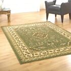 Classic and Timeless Oriental Durable Green Sincerity Sherbourne Rug in 9 Sizes