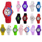 Tikkers Childrens Boys & Girls Quartz Analogue Display Watch with Rubber Strap