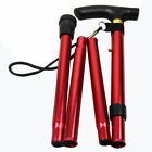 Aluminum Walking Stick Metal Cane Adjustable Folding Collapsible Travel Hiking
