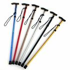 Внешний вид - Aluminum Walking Stick Metal Cane Adjustable Folding Collapsible Travel Hiking