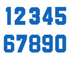 Iron-On Blue Bold Numbers Heat Transfer Football Baseball Sports Kits T-Shirt
