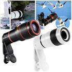 12X Zoom Optical Clip-On Telescope Phone Camera Lens For Mobile iPhone Samsung