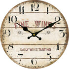 Fine Wines Wall Clock Home Living Room Kitchen Bar Decor Daily Wine Tasting