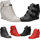 Women's High Top Sneakers Ladies Boots Wedge Shoes Sizes Fashion