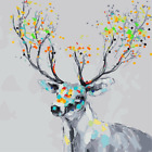 Paint By Number Acrylic DIY Watercolor Deer kit 16X20'' Painting on Canvas 1178