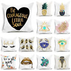 """18"""" Polyester Letters Art Pillow Cover Sofa Cushion Cover Home Decor Pillowcase"""