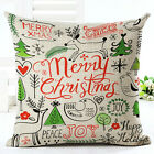 New Christmas Cotton Linen Sofa Cushion Cover Throw Pillow Case Home Decor