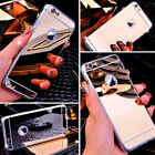 Luxury Soft TPU Plating Mirror Acrylic Back Case Cover For Apple/LG/OPPO Phones