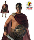 Mens Spartan Warrior Costume Deluxe Roman Greek Gladiator Fancy Dress Outfit