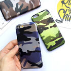 ES  Camouflage Soft Faux Leather Phone Back Case Cover for iPhone 5 6S 7 Plus Fi