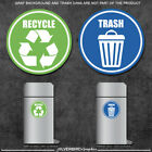 StoreInventorytrash and recycle - sticker decals / home and office container / various sizes!