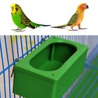 Green Food Water Plastic Bowl Cups Parrot Bird Pigeons Cage Cup Feeder Feeding