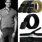 Male Mens Casual Outdoor Military Tactical Sports Waistband Canvas Buckle Belt