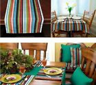 Sunbrella Outdoor Tablecloth, Tablerunner or placemats  CAROUSELL CONFETTI