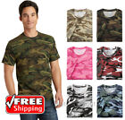 Port & Company Camo T-Shirt Cotton Short Sleeve Military Camouflage Hunt T PC54C