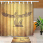 beautiful traditional bathrooms - Ancient Egyptian Beauty Girl with Wing Bathroom Shower Curtain Fabric