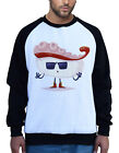 New Men's Tako Sushi White Raglan Sweatshirt Funny Humor Food Oriental Roll B981