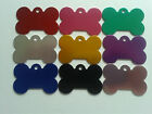 Pet Tags Bone Shaped Anodised Aluminium Engraved Dog Cat Tags Discs Disk A209