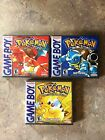 Game Boy Custom Game Cases Case Pokemon Red, Yellow, Blue, and/or Green