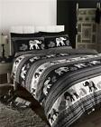 DUVET COVER SETS Black Ethnic Indian Elephant Bedding Black Quilt Cover Bed Sets