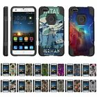 For ZTE Blade X Z965 Dual Layer Hybrid Kickstand Fitted Case Cover