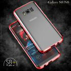 Luxury Aluminum Metal Bumper Frame transparent back Cover Case for GalaxyS8 Plus