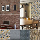 2pcs Brick Wall Effect Wallpaper Rustic Weathered Slate Stone Photographique