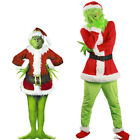 XCOSER Santa Grinch Costume How the Grinch Stole Christmas Cosplay Suit Outfits