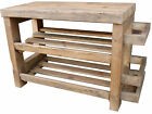 Shoe rack with seat and matching rustic shelf with coat pegs, coat rack. bench