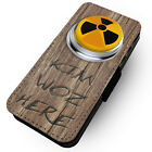 Kim Woz Here Nuke Button - Printed Faux Leather Flip Phone Cover Case #1