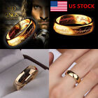 US Men Women Unisex Ring Lord of the Rings Titanium Steel Jewellery Jewelry Ring