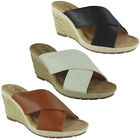 Womens Slip On Wedges Ladies Espadrilles Comfy Casual High Heel Wedge Shoes Size