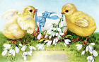 Easter Baby Chicks, Egg, Flowers ~ Vintage ~ Cross Stitch Pattern