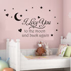 I Love You To The Moon And Back Wall Sticker Vinyl For Kid Baby Room Home Decor