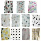 Muslin Organic Cotton Blanket Newborn Infant Swaddle Baby Kids Soft Wrap Towel