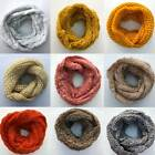 Womens Ladies Snood Neck Warmer Ski Scarf Super Soft Knitted Chunky Cable Knit