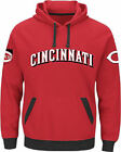 Majestic Cincinnati Reds Mens Red Third Wind Embroidered Pullover Hoodie Sweatsh on Ebay