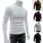 US Winter Men Slim Warm Cotton High Neck Pullover Jumper Sweater Tops Turtleneck
