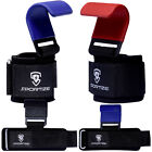New Wrist Wraps Strap Hook Dip Gym Training Bar Grip Power Weight Lifting Strong