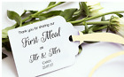 20-200 Personalised Ivory/White Thank You wedding Favour Gift Tags+Ribbon TSC03