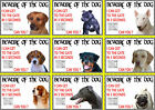 Beware Of The Dog Signs I Can Get To The Gate in 3 Seconds Various Breeds set1