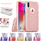 Hybrid Clear 3D Glitter Sparkle Shockproof Armor Case Cover for iPhone X 8 Plus